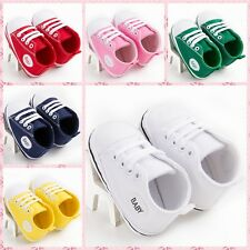 Baby soft White sneakers boy girl infant toddler crib shoes 0-18 months 3 sizes