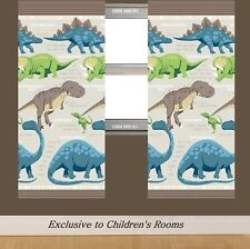 Dinosaur Facts Childrens Bedroom Curtains in Cream + FREE P&P