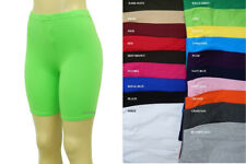 WOMEN COTTON SPANDEX BIKE YOGA MISSES LEGGING SHORTS REGULAR PLUS 20 COLORS S-3X