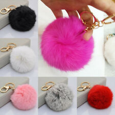 Hot lovely Soft Rabbit Fur Ball Cell Phone Car Pendant Handbag Key Chain Gift