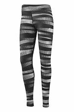 Adidas Ladies Ultimate All Over Print Tights D89549 White/Black Run/Gym/Class