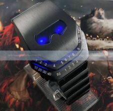 Robot Newest Design Blue LED Digital Snake Iron Stainless Touch Sports Watch New