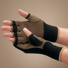 fingerless 20% COPPER compression arthritis pain relief stretch work gloves pair