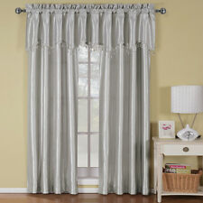 Soho Silver Rod Pocket Panel/Straight Valance  Window Treatment