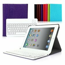 PU Luxury Leather Bluetooth Keyboard with Stand Case Cover For iPad Air 2