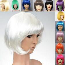 Fashion New Womens Ladies Short Straight Full Bangs BOBO Hair Cosplay Wig D68