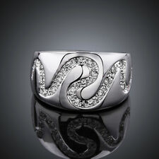 Promotion Price Cool 925Sterling Silver Zircon Snake Ring Size 7 8 GR580