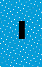 Blue and White Polka Dot Design Pattern Home Decor LIGHT SWITCH PLATE Wall Art
