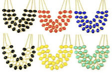 lady's golden BIB candy color bubble summer collar necklace jewellery NL-2057
