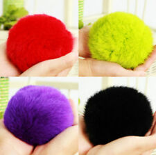 Fashion Cute Genuine Fur Ball Handbag Key Chain Cell Phone Car Pendant 8CM