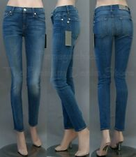 $198 NWT 7 SEVEN FOR ALL MANKIND JEANS THE SKINNY SECOND SKIN LEGGING BRDC BLUE