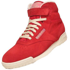 Reebok ExoFit Clen Hi Vintage Trainers Sneaker Shoes Suede red EX-O-FIT