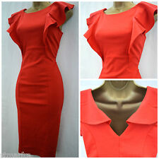 NEW DOROTHY PERKINS DRESS RED BODYCON PENCIL WIGGLE PARTY OFFICE SIZE 8 - 22