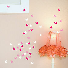 63 Butterfly Vinyl Wall Stickers 3 Colour Each Pack Wall Art Decals, Graphics