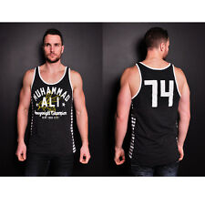 Roots of Fight Ali Bee '74 Striped Tank Top - Black Heather