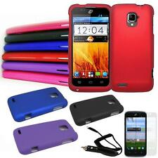 Phone Case For Straight Talk ZTE Rapido LTE Z932L Hard Cover Car Charger Film