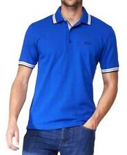 BRAND NEW HUGO BOSS MEN'S PREMIUM COTTON GREEN TAG SPORT POLO SHIRT T-SHIRT BLUE