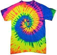 Neon Rainbow, Tie Dye T-Shirts, S, M, L, XL, 2X, 3X, 4X, 5X, Heavyweight Cotton