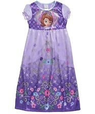 Sofia Princess Disney Junior Little Girl Big First Fantasy Nightgown Sleep Dress
