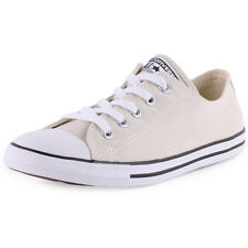 Converse Chuck Taylor Dainty Ox Womens Canvas Beige Trainers New Shoes All Sizes