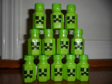 16 Hand craft Green .3 oz Bubble bottles Video game mine Birthday Party favor