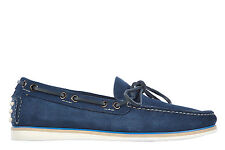 CAR SHOES MEN'S SUEDE LOAFERS MOCCASINS NEW ASTGOLD BLUE 2AD