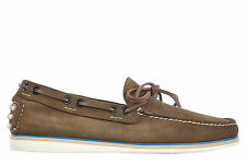 CAR SHOES MEN'S SUEDE LOAFERS MOCCASINS NEW CASTGOLD GREEN  357