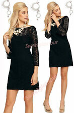 $168 Lilly Pulitzer Topanga Black Breakers Crochet Knit Lace Tunic Dress