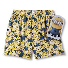 New Minions Despicable Me 2 Gift Men Boxer Tin Can Sleepwear Bello Underwear Tim