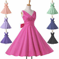 GK Vintage Rockabilly Swing 1950s 60's Pinup Housewife Rock & Roll Evening Dress