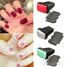Rubber Nail Art Polish Stamp Single/ Double Side Stamper Scraper Manicure Tool