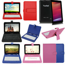 "9"" Android 4.4 A33 Quad Core Dual Cam Wifi Tablet PC Capacitive+Keyboard Case US"