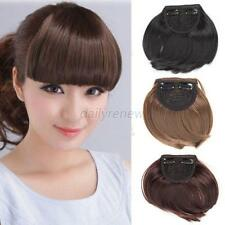 Fashion Womans Girls Hairpiece Neat Bang Fringe Charming Clip-In Hair Extensions