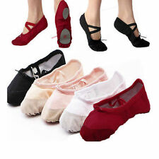 Girls Beautiful Adult Womens Ballet Dance Shoes Fitness Gymnastics Shoes Canvas