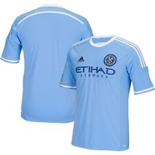 adidas New York City FC MLS 2015 / 2016 Soccer Home Jersey Brand New Sky Blue