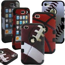 Hybrid Rugged Rubber Ball Combo Hard Case Cover for iPod Touch 5 itouch 5th 5G
