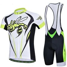New Hornet Men Cycling Outdoor Sports Wear Jersey+ (Bib) Shorts GEL Pad S-XXXL