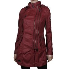 KHUJO Rehd Women's cooler Coat Jacket for the Transitional Parka stylish red