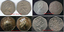 Large 50p 50 Pence 1969-1994 Coin Hunt Choose your item Supplied in Coin Wallet