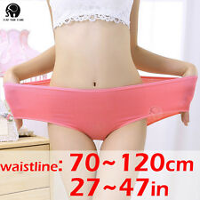 Women Heavy Lingerie Underwear Boxer Cotton Briefs Plus Size Pure Color 014