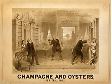 Photo Print Vintage Poster: Stage Theatre Flyer Champagne And Oysters 01