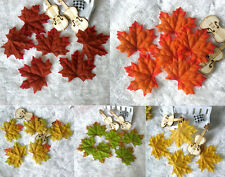100-2000pcs Fall Silk Leaves Wedding Favor Autumn Maple Leaf Decorations
