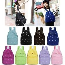 Sweet Girls Canvas Backpack Floral Women School Bag Rucksack Campus Shouldbag