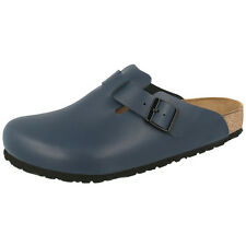 BIRKENSTOCK BOSTON NATURLEDER CLOGS SCHUHE BLUE 060151 PANTOLETTEN WEITE NORMAL