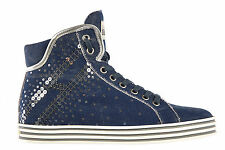 HOGAN SCARPE SNEAKERS ALTE DONNA NUOVE ORIGINALI COTTON REBEL PAILLETTES R18 2F7