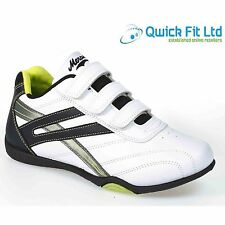 MENS RUNNING WHITE TRAINERS CASUAL VELCRO RUNNING GYM WALKING SPORTS SHOES SIZES
