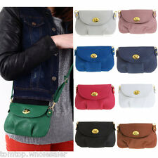 PU Leather Satchel Shoulder Women Crossbody Messenger Bag Handbag Tote Purse