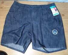 Riders By Lee Women's Blue Jean Walk Shorts Plus Sizes Slims You 159S847 NWT