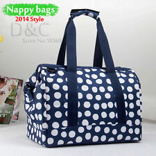New 2016 Mommy Bag Baby Diaper Bag Combination Large  Multifunction Dot handbag