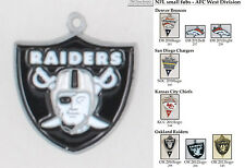 NFL team logo fobs (AFC West), various teams & chain finishing options